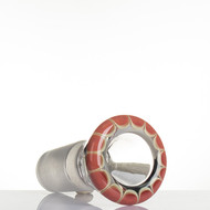 Zenit Glass Cone 18.8mm Rasta Salmon - detail