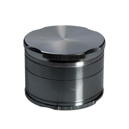 Black Leaf Edge Aluminium Grinder Grey 55mm - 4 part Grey
