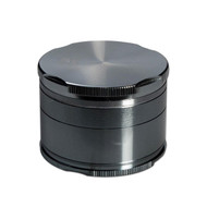 Black Leaf Edge Aluminium Grinder Grey 55mm - 4 part Grey