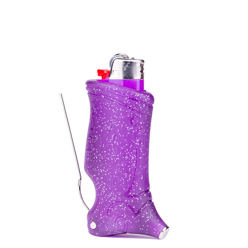 Toker Poker Glow in the Dark - Purple Sparkle