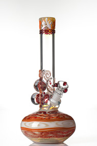 HVY Mini Worked Bubble Beaker Red 2