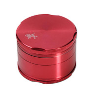 Black Leaf Edge Aluminium Grinder 55mm - 4 part Red.