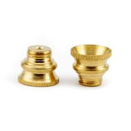 Medium Screw in Brass Cone