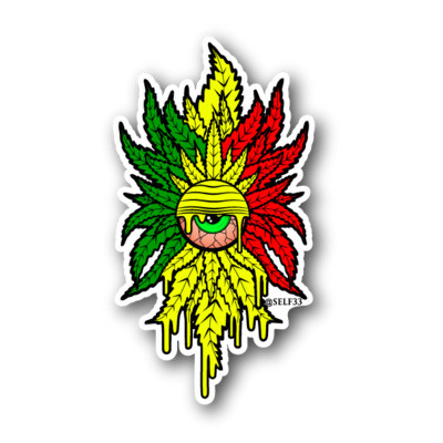 Stickers rasta cyclops sticker image 1