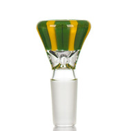 Plaisir Deluxe Glass Cone 14.5mm 'Yellow and Green
