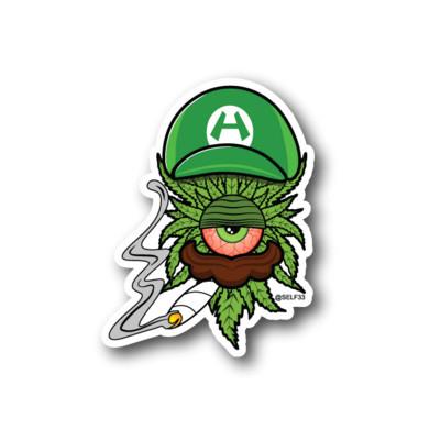 Luigi Clopse Sticker Beefys