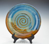 12 in x 3 in pasta bowl, ocean blue glaze - upright