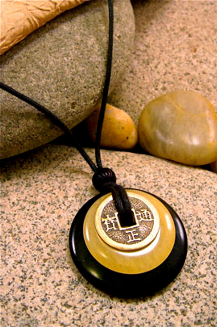 Earth & Art Pendant Stone Jewelry - Black Jasper & Butterscotch Jasper