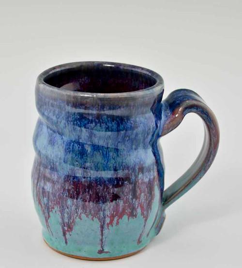 "Handmade Pottery Mug 4"" in Fiesta Glaze, 10 oz"