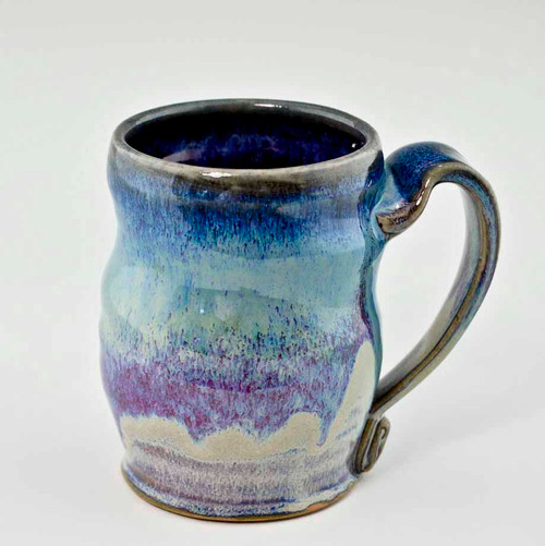 "Handmade Pottery Mug 4"" in Cocktail Glaze, 10 oz"