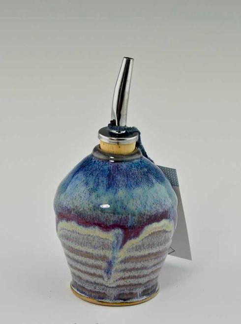 Handmade Pottery Oil Bottle in Cocktail Glaze