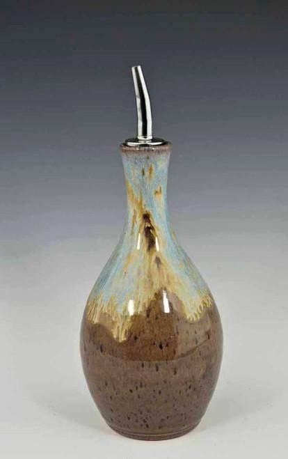 Oil Bottle in Blue Ridge Glaze