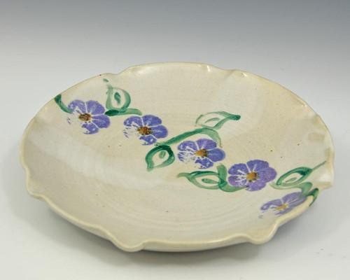 Vintage White Purple Plate
