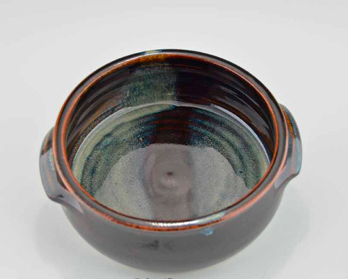 Stoneware Baking Dish in Blue & Brown Glaze