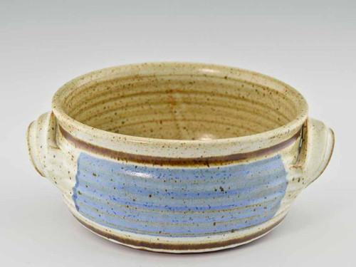 Handmade Pottery 2 Qt Baking Dish w handles in Old Republic Glaze