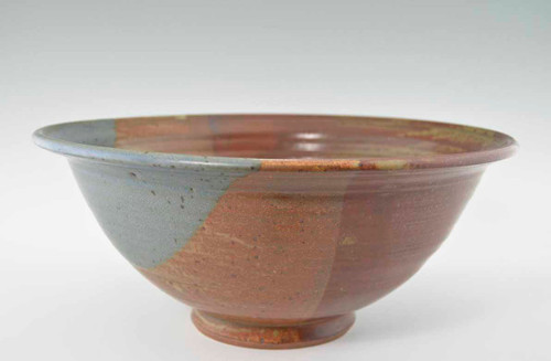 """Handmade Pottery Large Bowl 13"""" in Oasis Glaze"""