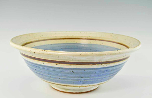 """Handmade Pottery Large Bowl 12"""" in Old Republic Glaze"""