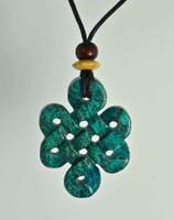 "Celtic Knots Pendant Stone Jewelry - African ""Turquoise"" Jasper"