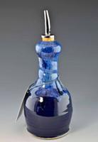 Large Handmade Pottery Oil Bottle / Dispenser Deepwater Blue Glaze