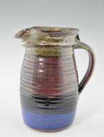 Handmade Pottery Pitcher 72 oz - Storm Glaze