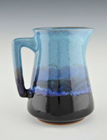 Handmade Pottery Tapered Pitcher in Mountain Waves Glaze