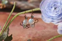 White Moonflower Earrings