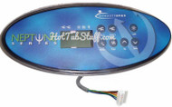 11010 Topside Control for Dynasty Spas with Overlay sticker, This comes with an 8 pin connector, if you need the XE pack connection it is part 12648  FREE SHIPPING on this item!!