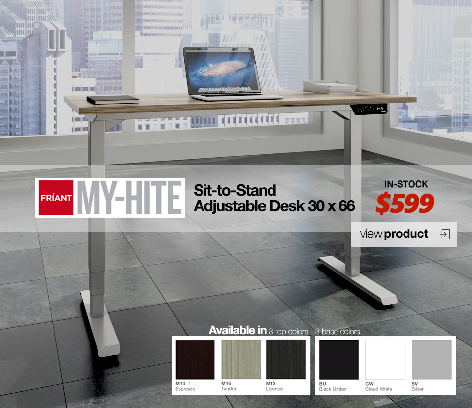 Friant My Hite Adjustable Desk Special Promo