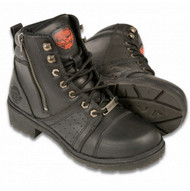 WOMENS LACE BOOT w/ CONTRAST STITCHING - SA74