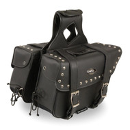 "15"" W x 12"" H MOTORCYCLE WATERPROOF STUDDED SADDLEBAGS - SA85"