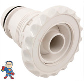 """Jet Internal, Waterway, Poly Jet, 3-3/8"""" face diameter, Adjustable, Deluxe Scalloped, White, Threaded"""