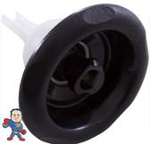"Jet Internal, Pentair Cyclone Jet, 5"" face diameter, Swirl, 5 Scallop, Black"