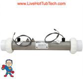 "Heater, Flo Thru, Balboa M7, 15"" x 2"", 230v or 115v , 4.0kW, with Sensors"