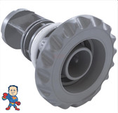 "Jet Internal, Waterway, Quad Flo, Diverter Jet, 4-3/4"" face diameter, Swim Jet, Deluxe Scalloped, Gray"