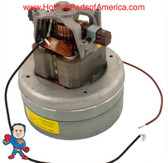 Motor, Ametek, 2.0hp, 230v, 1-Spd, Air Blower When choosing your blower motor you will need to measure the Width, Height and what Amperage and what Horse Power...The Height of the motor will give you a clue about the Horse Power... Note: Do not order a 115V in place of a 230 or Vice Versa you can damage the motor or the circuit. BE sure of all of these things before ordering.