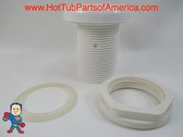 """Air Control Valve 1-3/4"""" Hole Size , 2-1/2"""" Face Diameter, Smooth White, 1"""""""