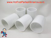 "5X Hot Tub Spa 1 1/2"" Slip X 1 1/2 Slip Coupler Plumbing PVC Fitting How To Video"