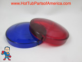 """Red & Blue Lens Cover for Spa Hot Tub Light Lens 3 1/4"""" Video How To"""