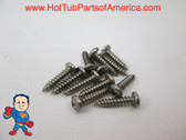 """Spa Hot Tub Cover Latch Screw Kit 12 Stainless Steel Screws 1/2"""" Video How To"""