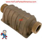 "Side Mount Heater Manifold Hydro-Quip API Series 1 1/2"" Bronze replace Aluminum"