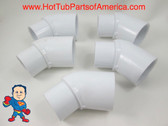 "5x Hot Tub Spa 45 1 1/2"" Street X Slip Plumbing ELL PVC Fitting How To Video"