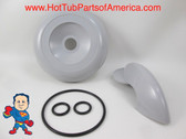 "Marquis Spa Hot Tub Gray Diverter 4"" Selector Handle, Threaded Cap & O-Ring Kit"