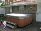 Spa Hot Tub Cover Cap SunShield® fits JACUZZI® Premium 91 x 91 Protector Video