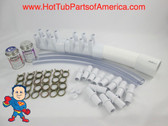 """Manifold Hot Tub Spa Part 12 3/4"""" Outlet Glue And Coupler Kit Video How To"""