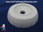 """Spa Hot Tub Diverter Cap 3 3/4"""" Wide White Notched Buttress Style How To Video"""