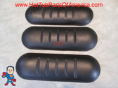 3X Spa Hot Tub Neck Pillow Keys Backyard Black Ribbed 3 Pillows
