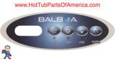 Overlay Balboa Topside 4 Button Spa Hot Tub #12 11852 Mini Oval Generic MAS260