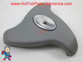 "2"" Dynasty Logo Gray 3 7/8"" Diverter Valve Handle Spa Hot Tub Knob"
