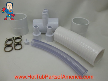 """RENU Manifold Hot Tub Spa Old To New Style 2""""spg x (2)3/4"""" Coupler Kit Video How To"""