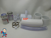 """RENU Manifold Hot Tub Spa Old To New Style 2""""spg x (2)3/4"""" Coupler Glue Kit Video How To"""